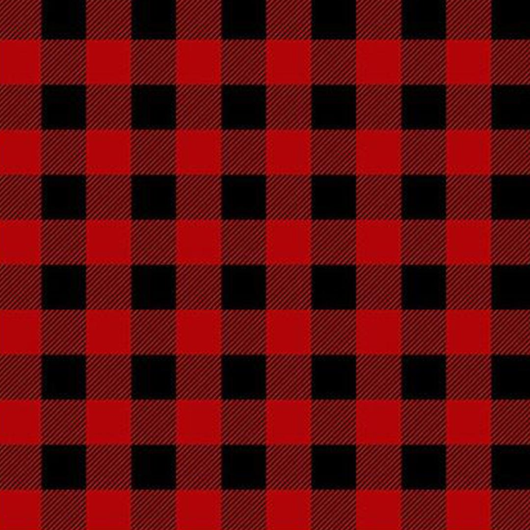 Red and Black Buffalo Plaid -  Flannel
