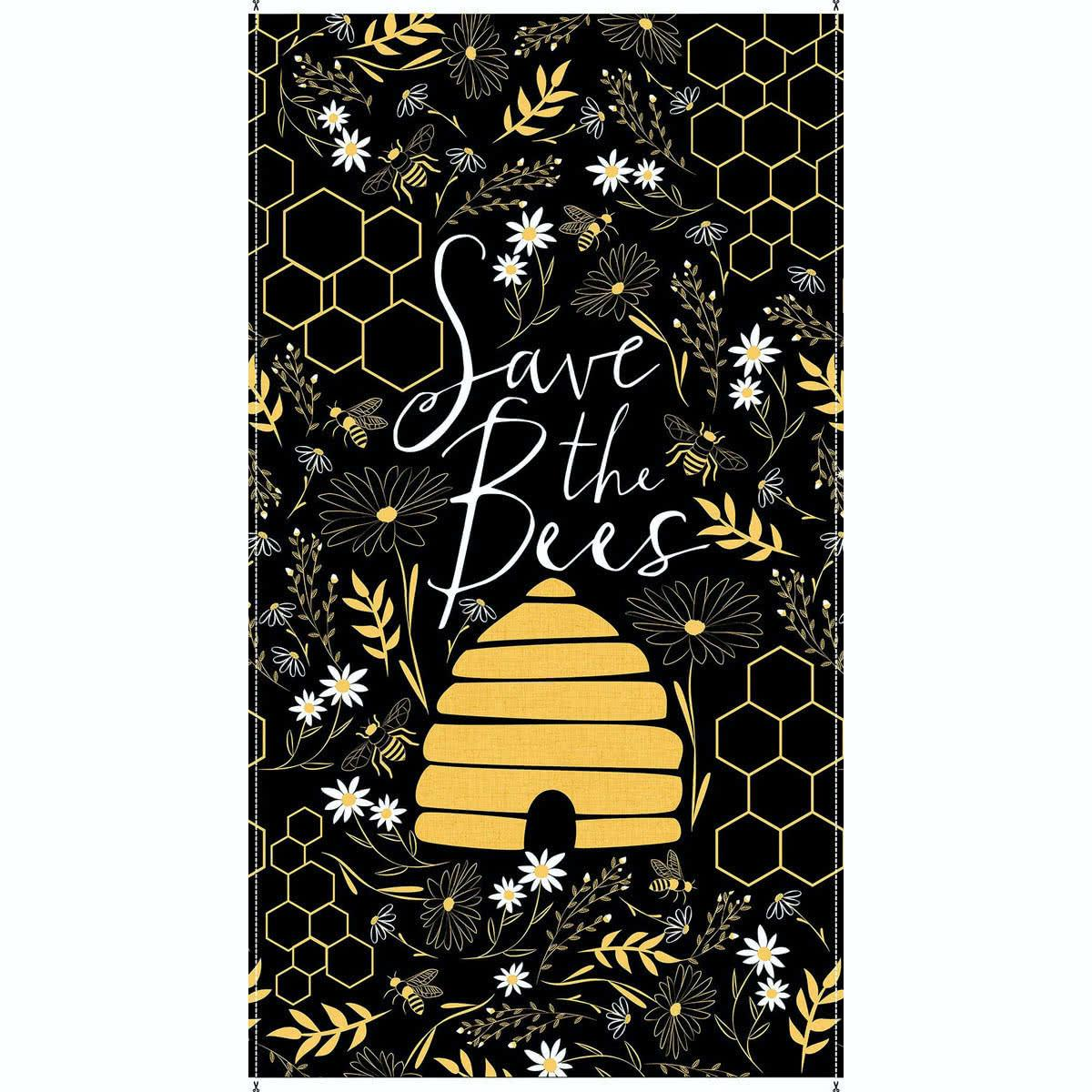 Save the Bees Panel - Black