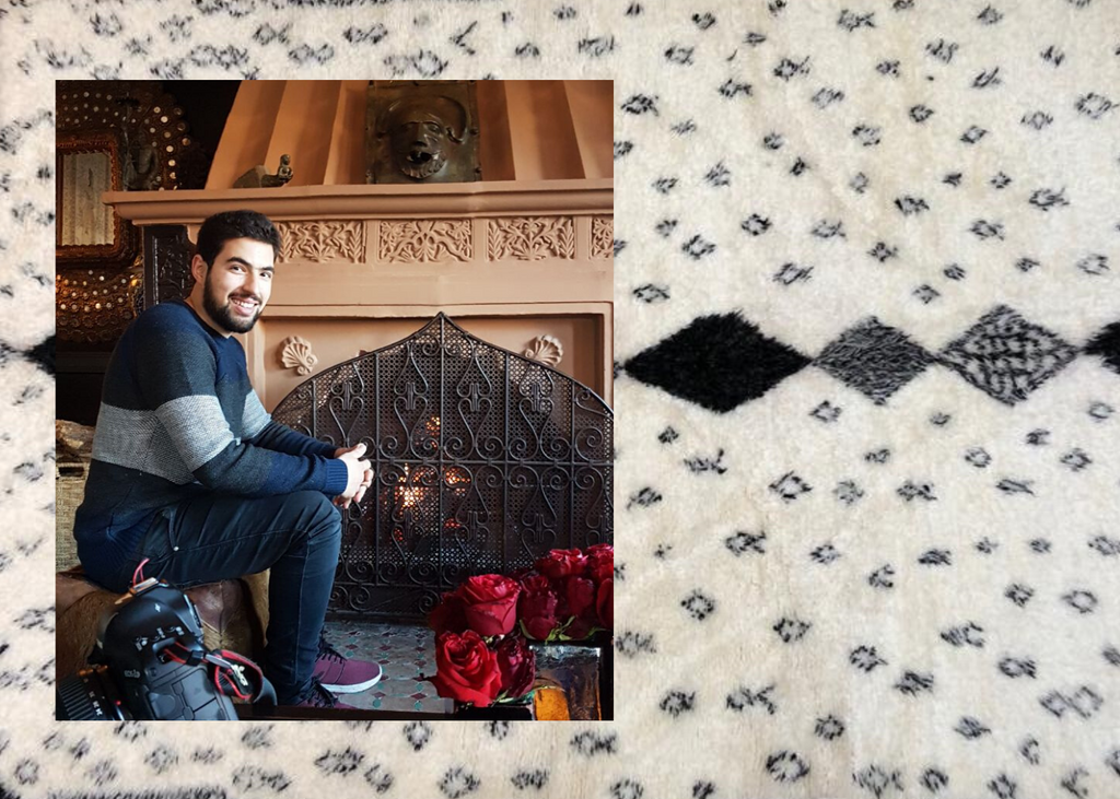 Salim with a moroccan rug background