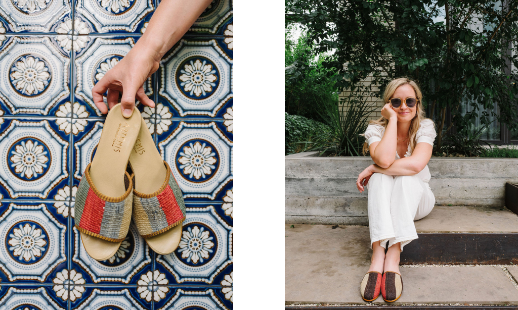 Jen in Artemis Kilim Shoes- Slides