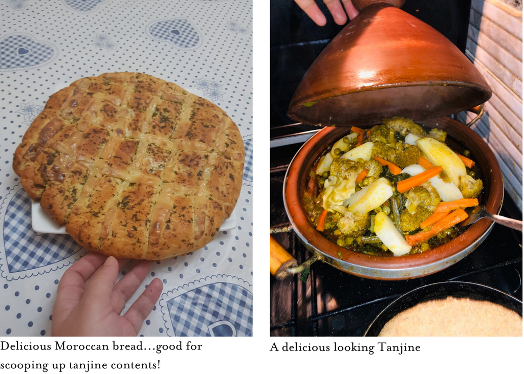 moroccan bread and vegetable tanjine