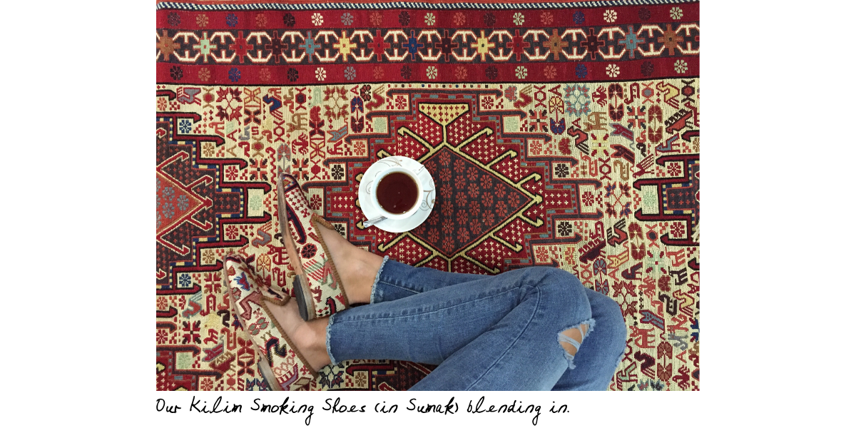 sumak kilim smoking shoes