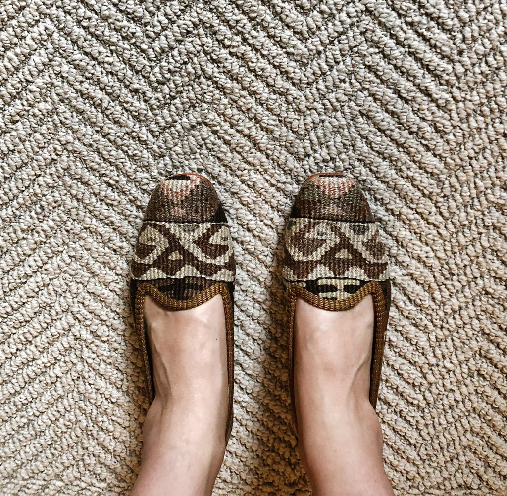 Artemis design co kilim loafers