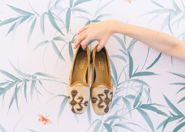 Women's kilim loafers
