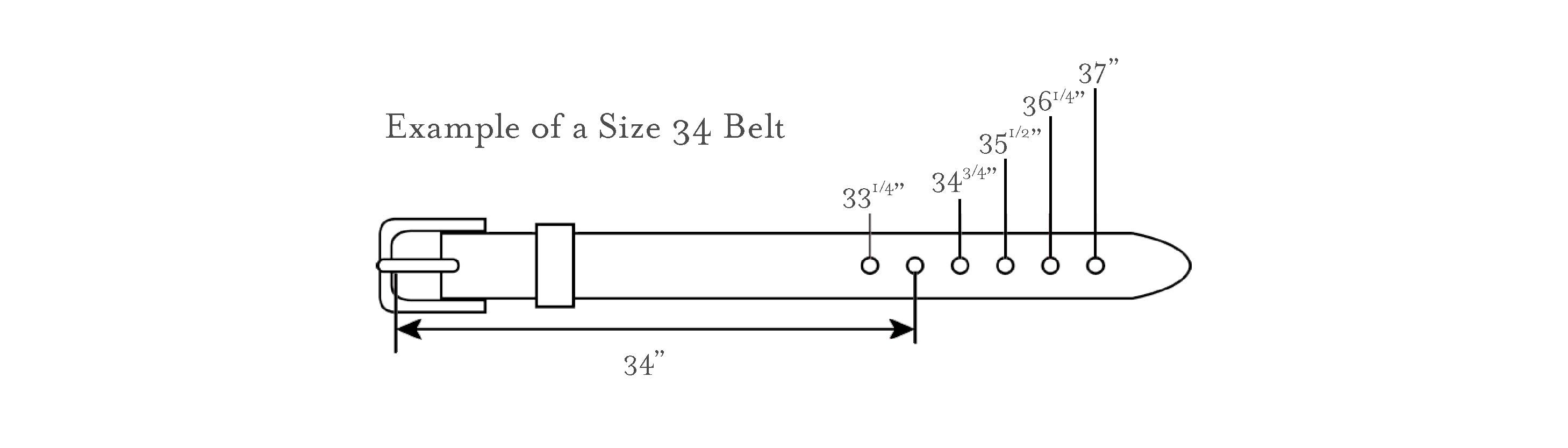 Kilim belt sizing guide