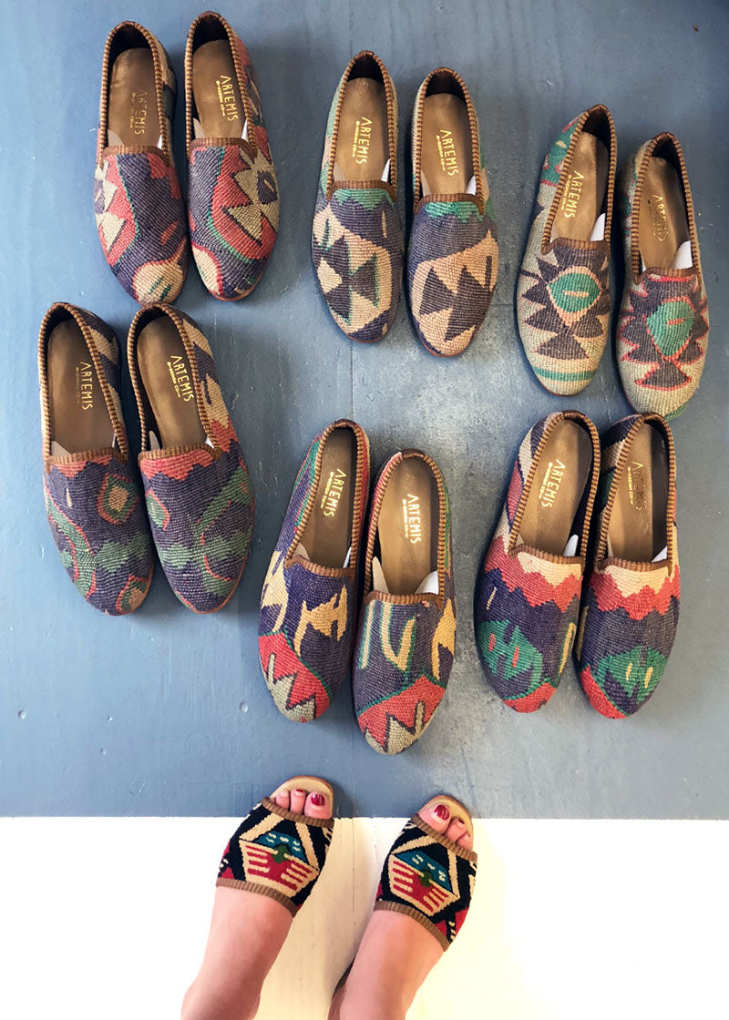 Groomsmen collection of mens kilim loafers for the pardy wedding.