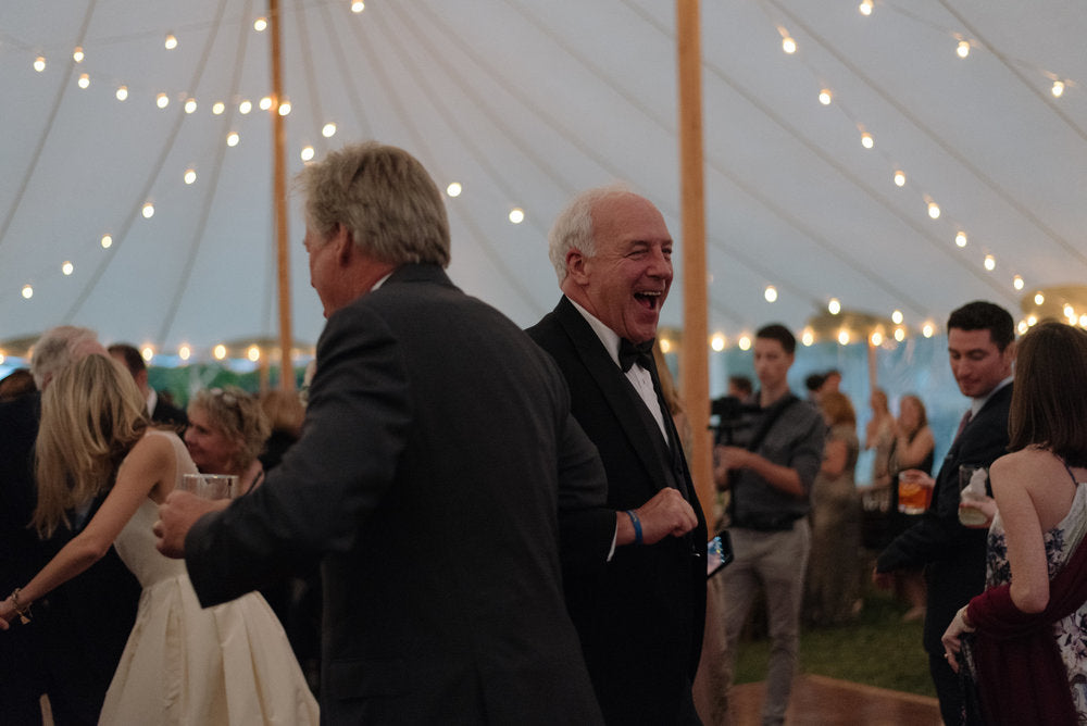 Father of the bride dancing on the dance floor