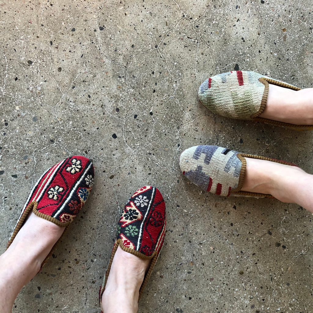Artemis design Co. kilim loafers