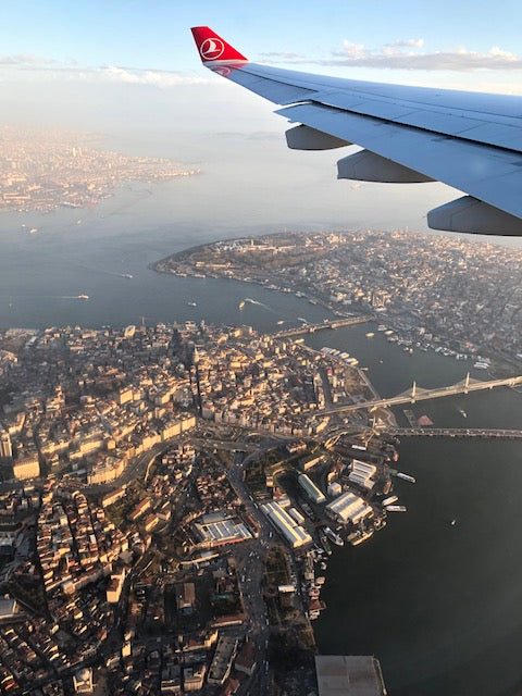 Plane view of Istanbul city.