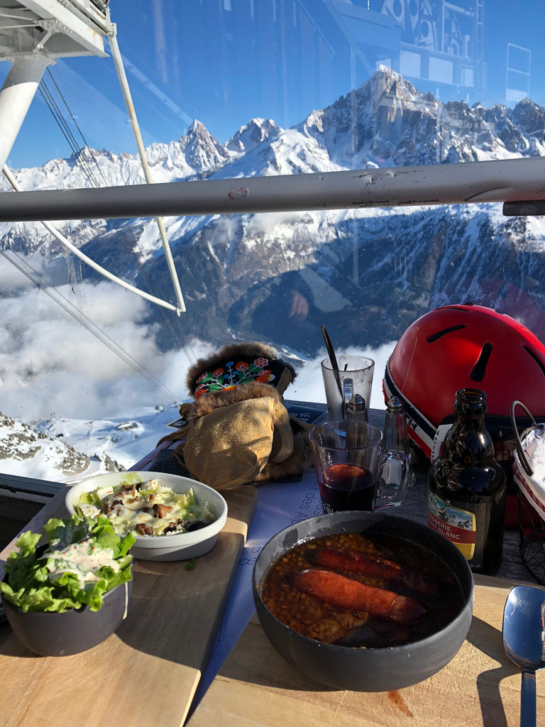 Chamonix lunch view