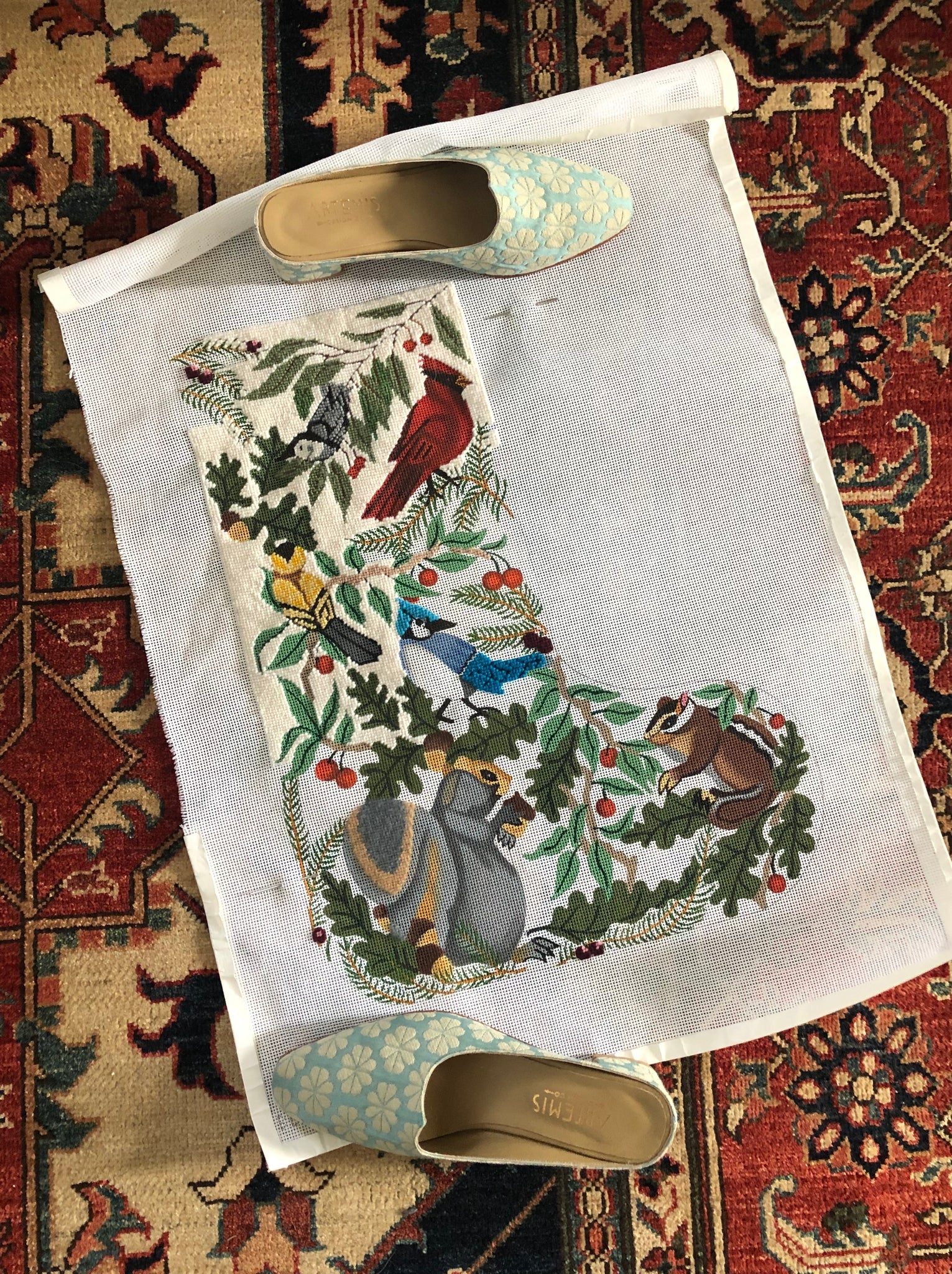 needlepoint stocking