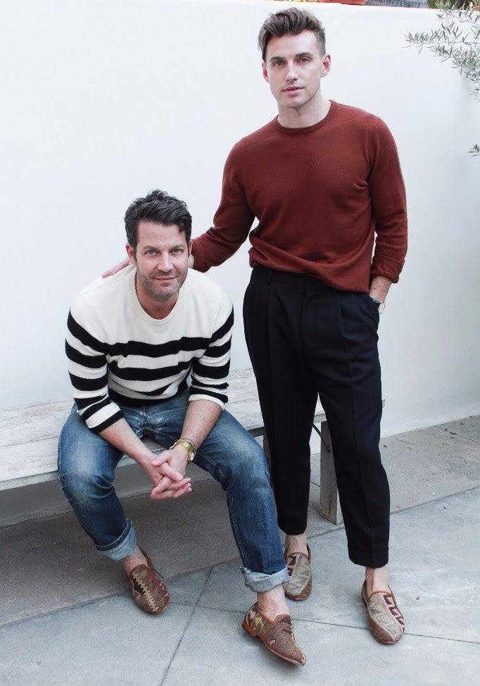 Nate Berkus and Jeremiah Brent kilim loafers