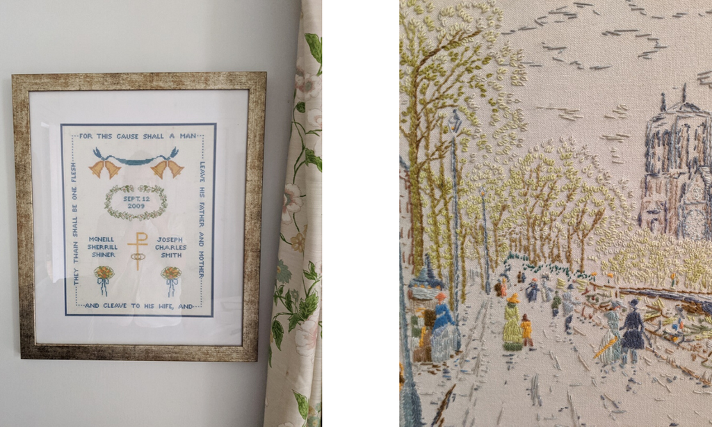 crewelwork-street-scene-cross-stitch-wedding-sampler