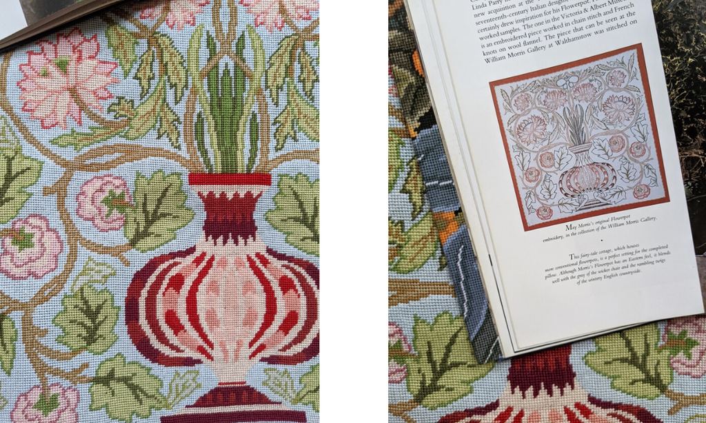 william-morris-needlepoint-pomegranate-vase
