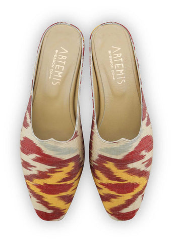 charlotte-moss-mules-red-yellow-blue-silk-ikat