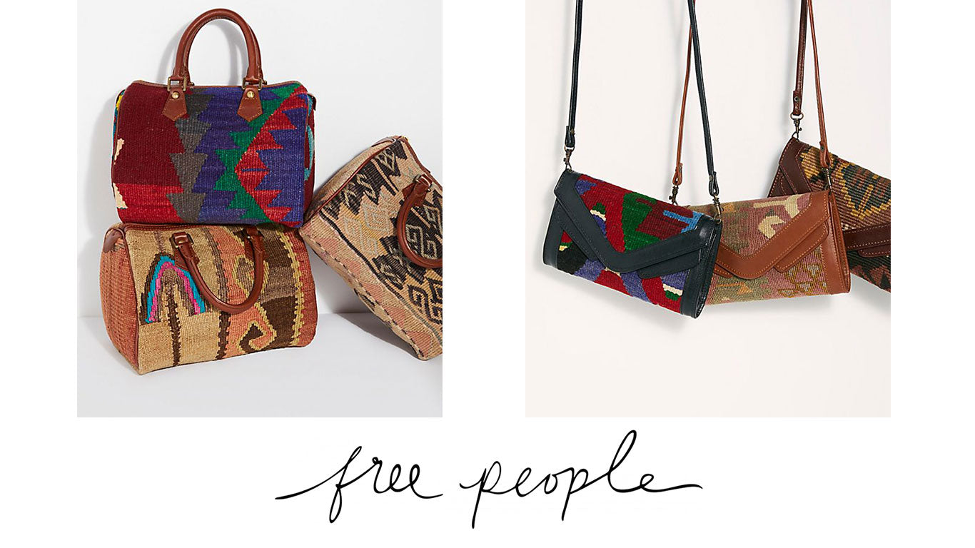 Kilim Handbags made exclusively for Free People by Artemis Design Co.