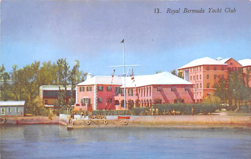 painting of royal bermuda yacht club.