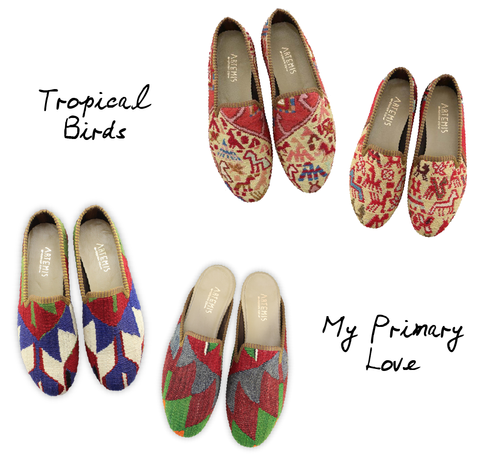 Bespoke colorful kilim loafers