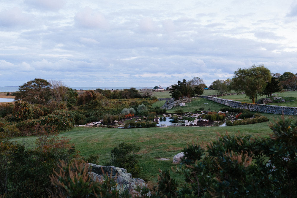 landscape surrounding the reception in westport, ma.