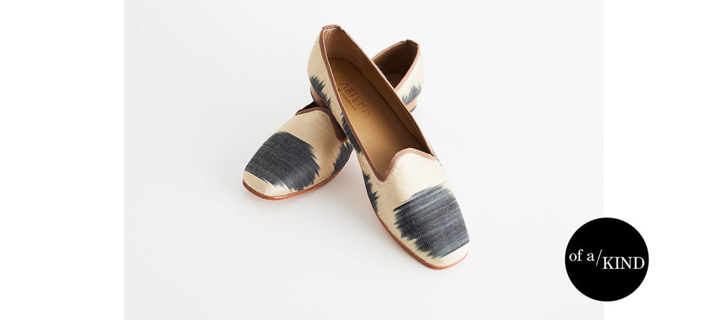 of a kind silk loafers