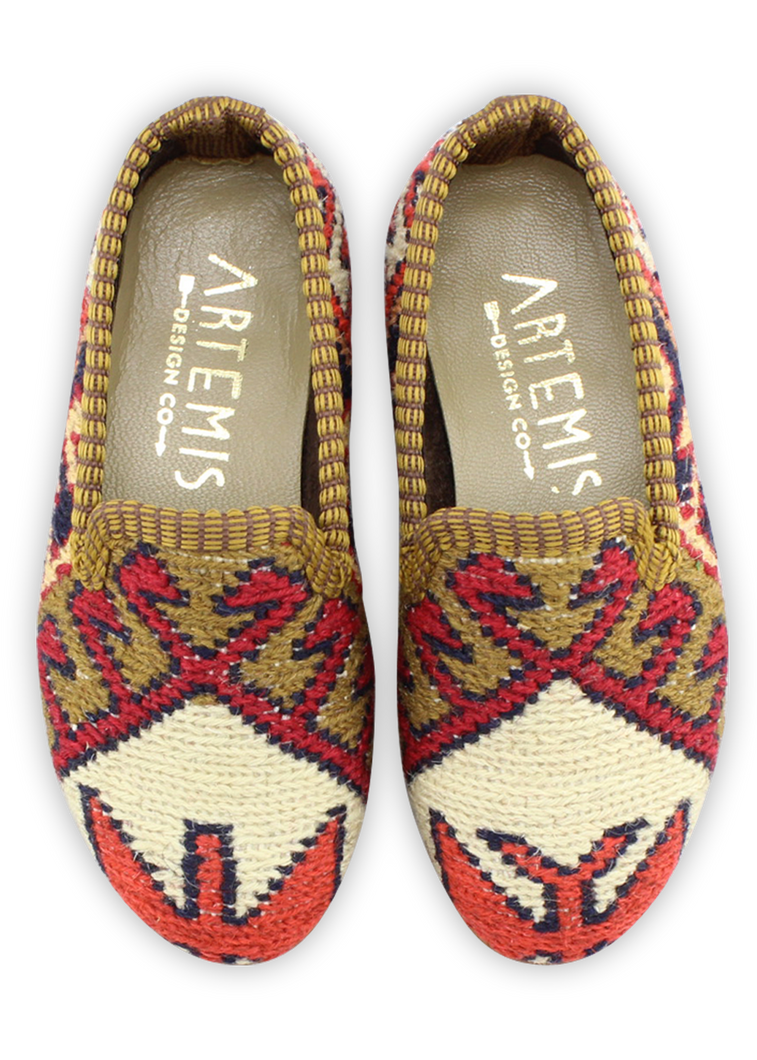 Load image into Gallery viewer, Children's Sumak Kilim Loafers - Size 25