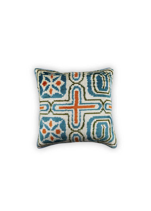Load image into Gallery viewer, goldie-velvet-ikat-pillow-square-ZVPLSQ-1902