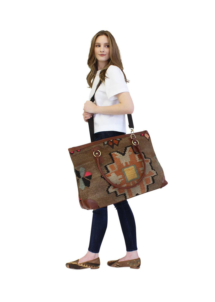 Load image into Gallery viewer, Accessories - Kilim Weekender Bag