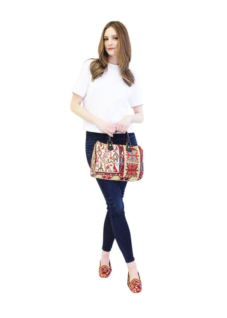 Load image into Gallery viewer, Archived Acc - Kilim Handbag - Baby Duffle