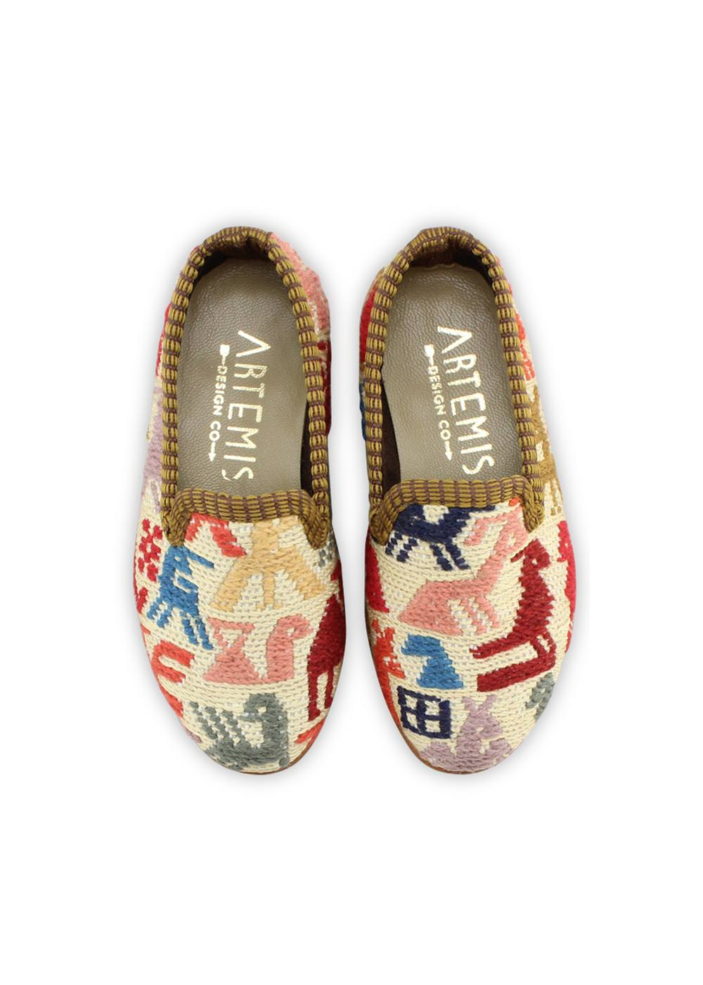 Archived Children's Shoes - Children's Sumak Kilim Loafers - Size 25 (US Children's 8.5-9)