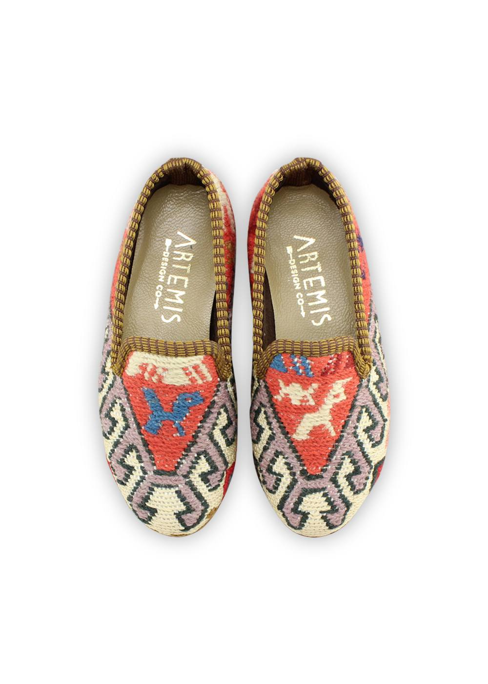 Archived Children's Shoes - Children's Sumak Kilim Loafers - Size 28