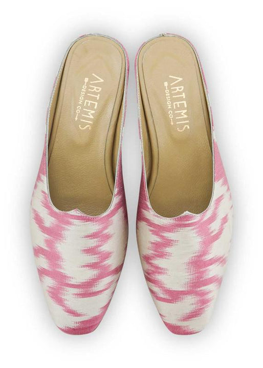 Archived Women's - Charlotte Moss For Artemis - Silk Ikat Moss Mules, Size 38