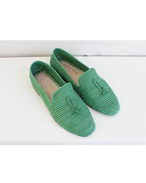 Archived Women's - Size 38 (US 8-8.5) Green Raffia Loafer