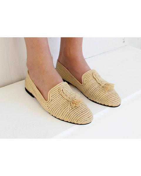 Archived Women's - Size 41 (US 11) Natural Raffia Loafer