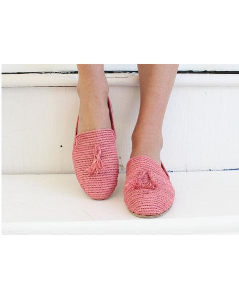 Archived Women's - Size 41 (US 11) Pink Raffia Loafer