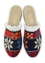 Load image into Gallery viewer, Archived Women's - Women's Fringe Sumak Kilim Slides - Size 37