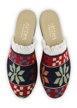 Load image into Gallery viewer, Archived Women's - Women's Fringe Sumak Kilim Slides - Size 38