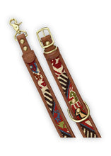 Load image into Gallery viewer, Bazaar - Sumak Kilim Dog Collar & Leash, Large
