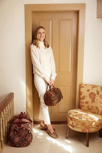 milicent-armstrong-wearing-carpet-loafers-and-baby-duffle-handbag