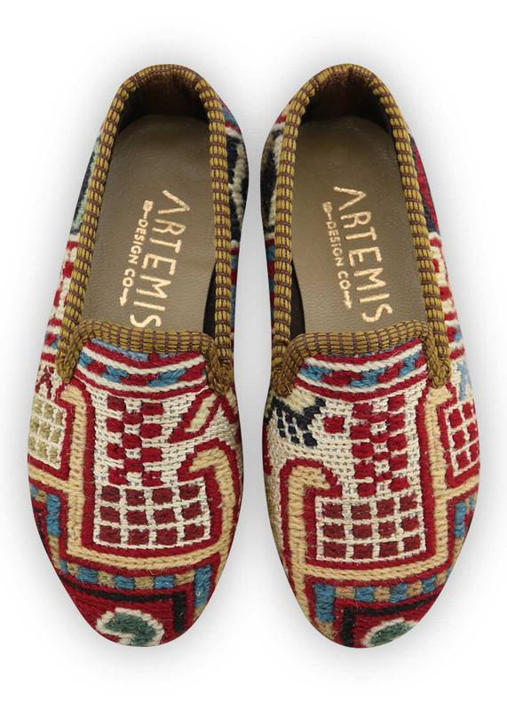 Load image into Gallery viewer, Children's Shoes - Artemis X Maisonette - Children's Sumak Kilim Loafers - Size 27