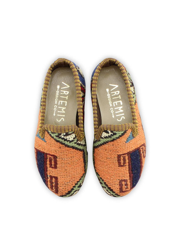 Load image into Gallery viewer, Children's Shoes - Children's Sumak Kilim Loafers - Size 25