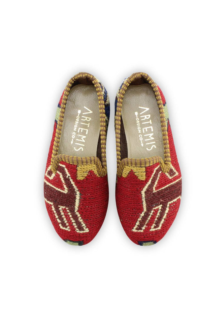 Load image into Gallery viewer, Children's Shoes - Children's Sumak Kilim Loafers - Size 26