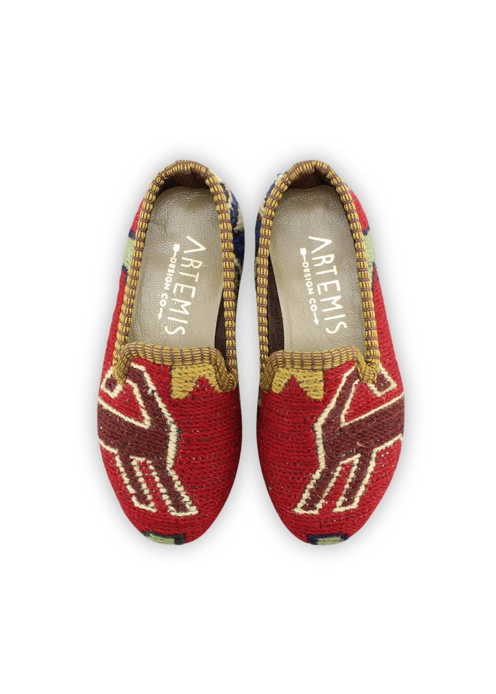 Children's Shoes - Children's Sumak Kilim Loafers - Size 26