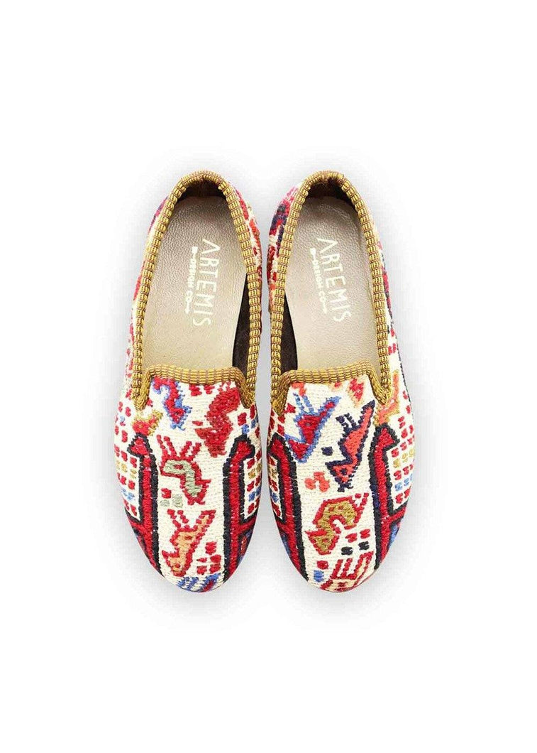 Load image into Gallery viewer, Children's Shoes - Children's Sumak Kilim Loafers - Size 33