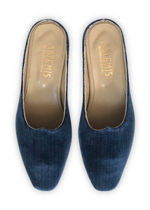 Women's Shoes - Charlotte Moss For Artemis - Midnight Velvet Moss Mules