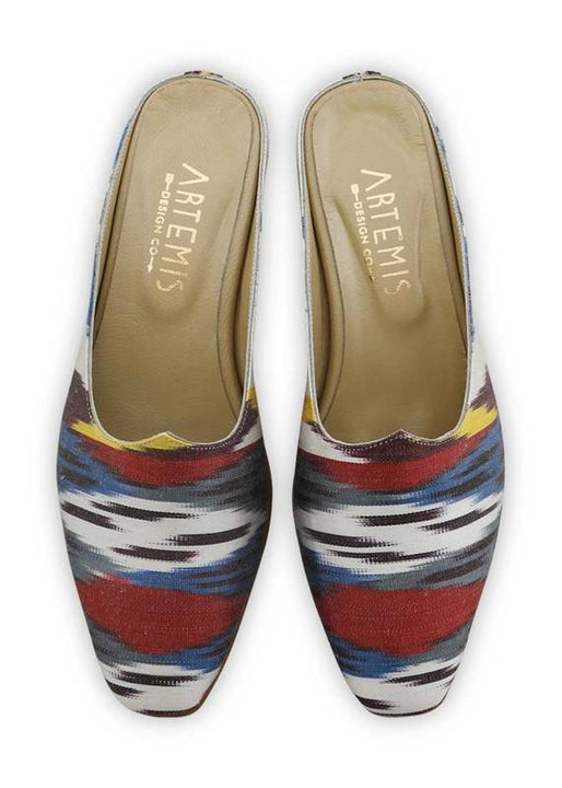 Women's Shoes - Charlotte Moss For Artemis - Silk Ikat Moss Mules, Size 36