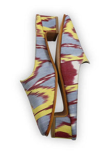 Women's Shoes - Charlotte Moss For Artemis - Silk Ikat Moss Mules, Size 37
