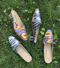 Load image into Gallery viewer, Women's Shoes - Charlotte Moss For Artemis - Silk Ikat Moss Mules, Size 37