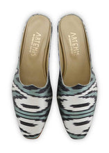Load image into Gallery viewer, Women's Shoes - Charlotte Moss For Artemis - Silk Ikat Moss Mules, Size 38