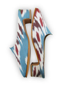 Women's Shoes - Charlotte Moss For Artemis - Silk Ikat Moss Mules, Size 39