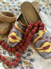 Load image into Gallery viewer, Women's Shoes - Charlotte Moss For Artemis - Silk Ikat Moss Mules, Size 39